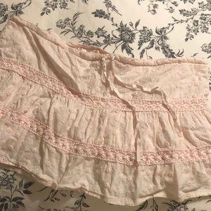 Short summer skirt.